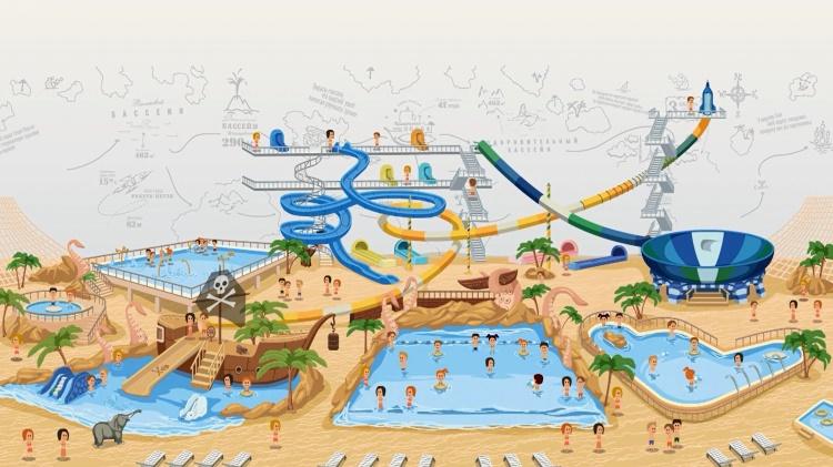 карта аквапарка в Ульяновске