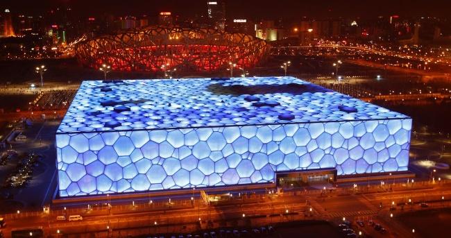 аквапарк «Водный Куб» в Пекине.