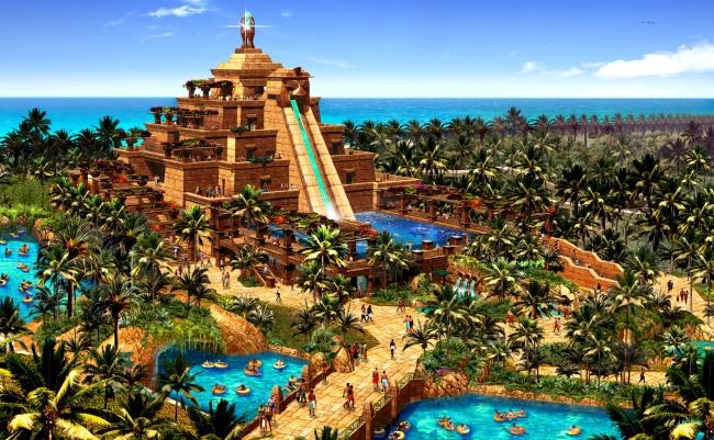 "Аквапарк ""Aquaventure"" отеля Atlantis the Palm в Дубае"