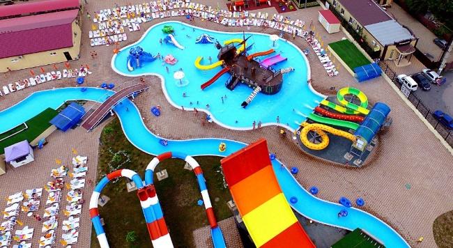 """""""ДонПарк"""" аквапарк с большой аквазоной для детей, с пиратским караблем"""