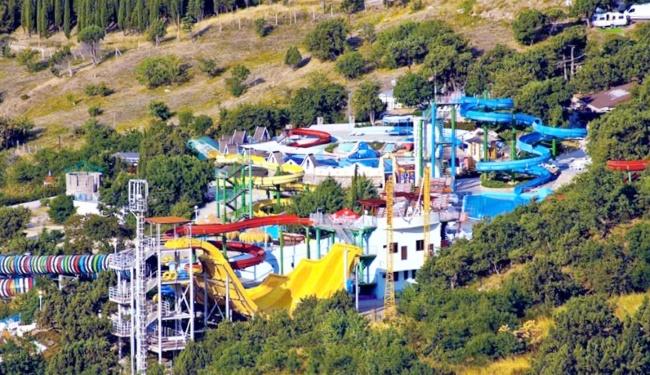 "Аквапарк ""Голубой залив"" в Симеизе, Крым"
