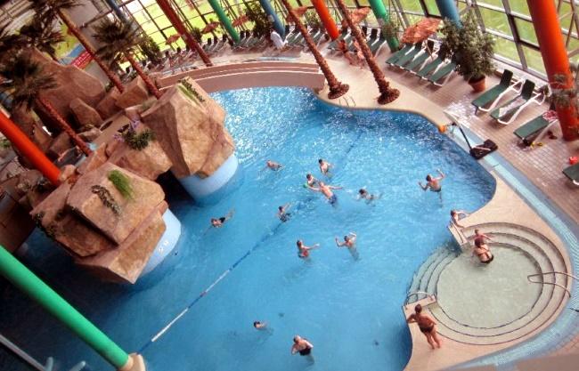 большой волновой бассейн в аквапарке Друскининкай в Литве