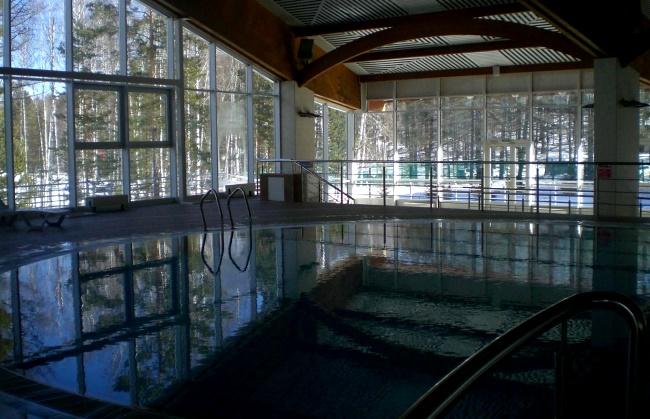 Курорт Абзаково, бассейн